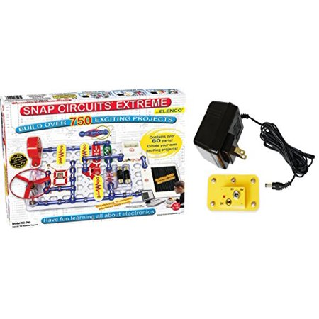 Snap Circuits Extreme Sc 750 Electronics Discovery Kit Deluxe Bundle With Battery Eliminator