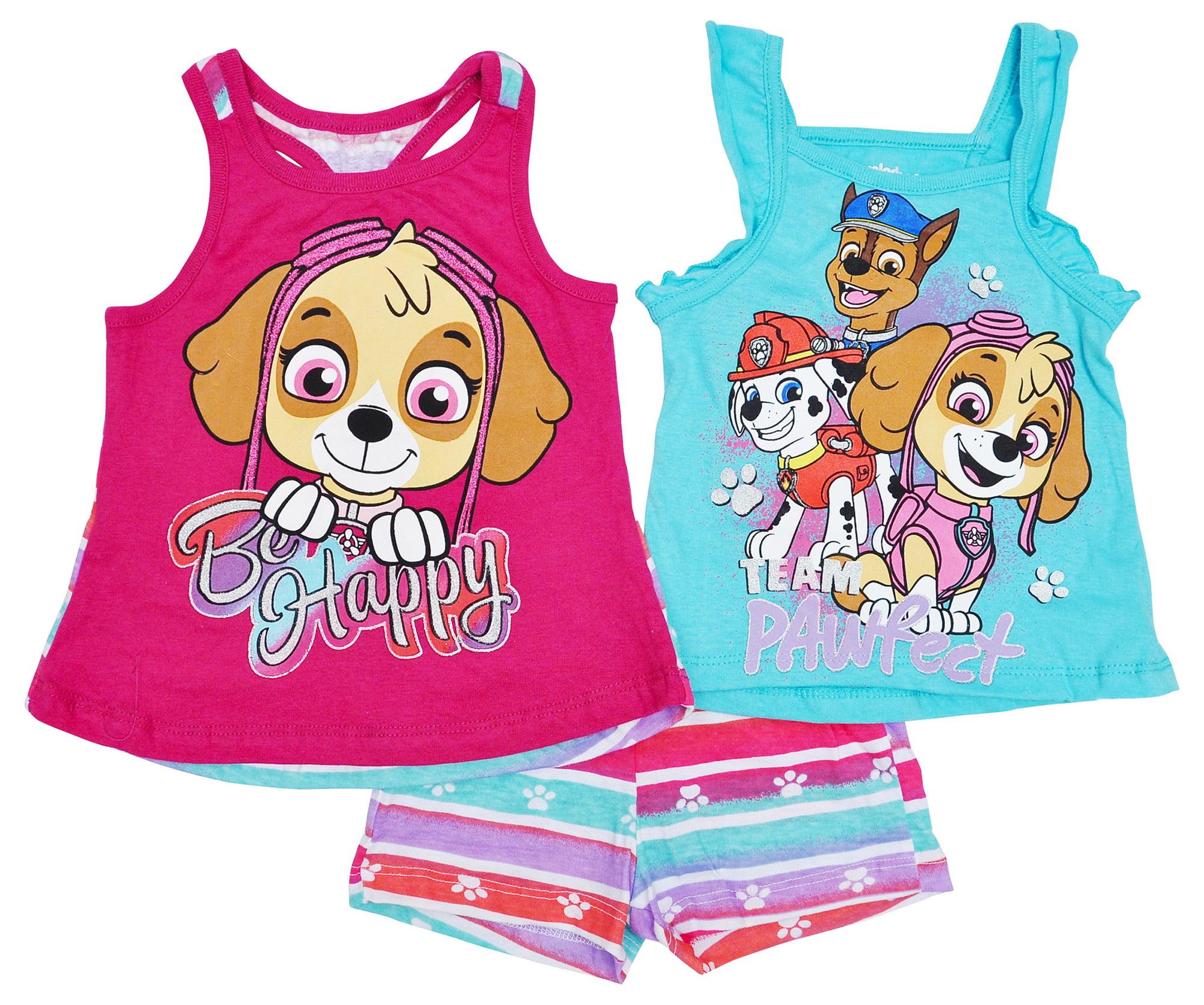 Paw Patrol Nickelodeon Toddler Girls Tank Top /& Shorts Size 2T
