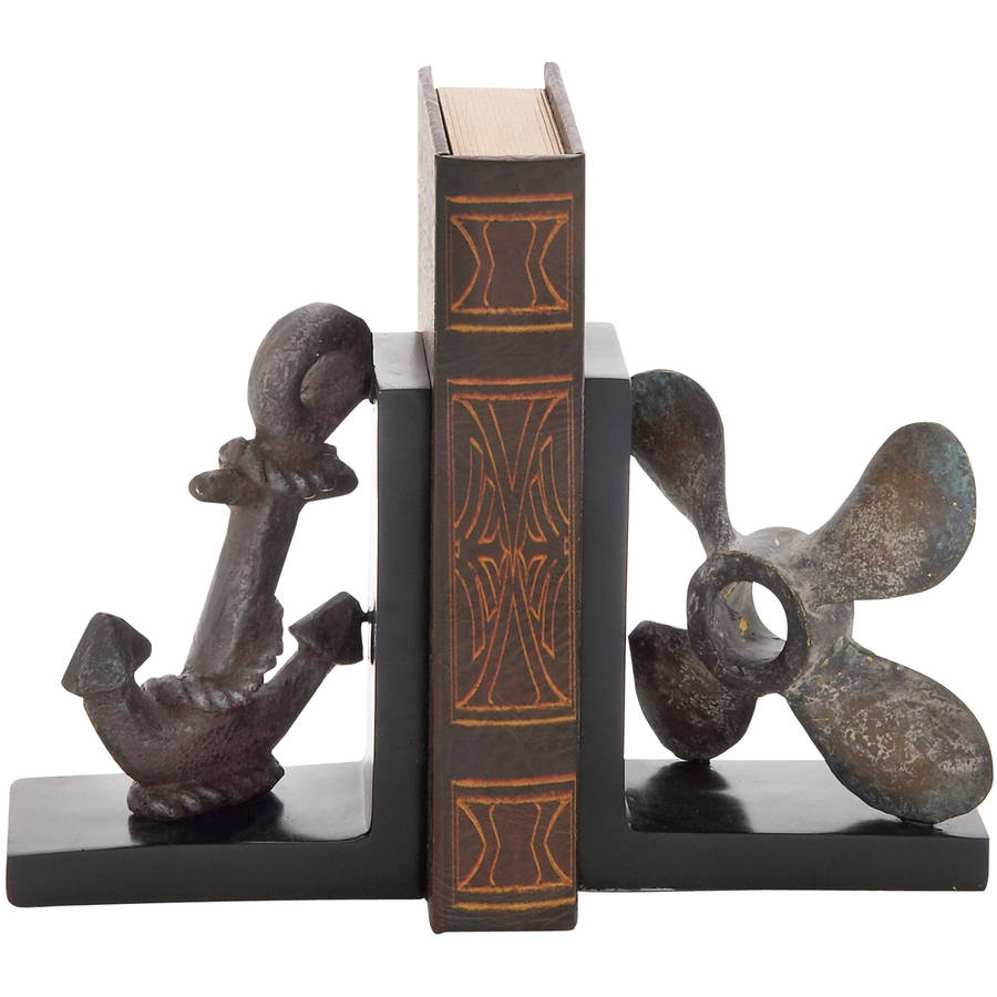 Creative Styled Interesting Polystone Bookend Pair by DecMode