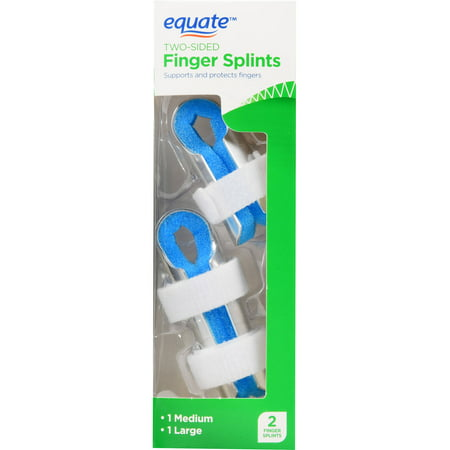 (2 Pack) Equate Two-Sided Finger Splints, 2 Ct