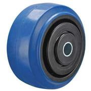 ZORO SELECT P-EP-040X020/050K-001 Caster Wheel,Rubber,4 in. Dia.,400 lb.
