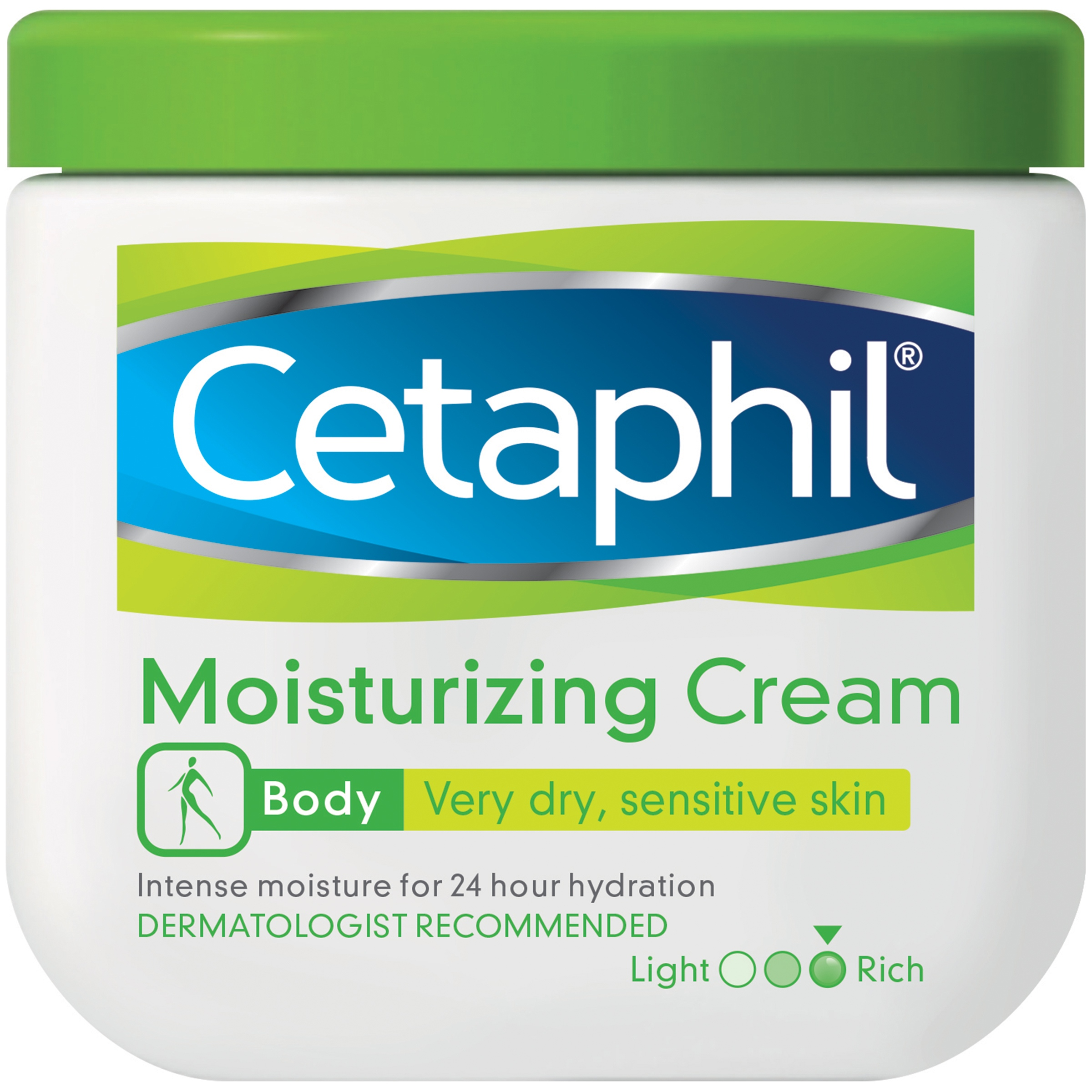 Cetaphil Body Dry Sensitive Skin Moisturizing Cream, 16 oz