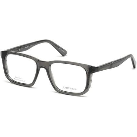 Diesel DL5253-020-52 Square Unisex Grey Frame Clear Lens Genuine Eyeglasses