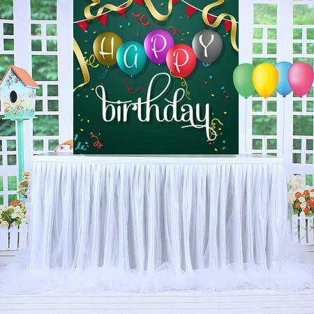 Mesh Gauze Table Skirt Tulle Table Yarn Skirt Wedding Celebration Supplies - image 6 of 9