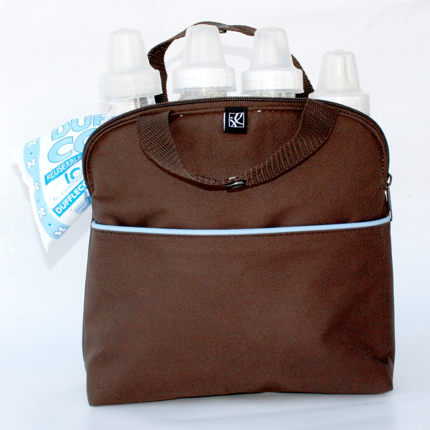 MaxiCOOL Bottle Bag - Cocoa / Blue