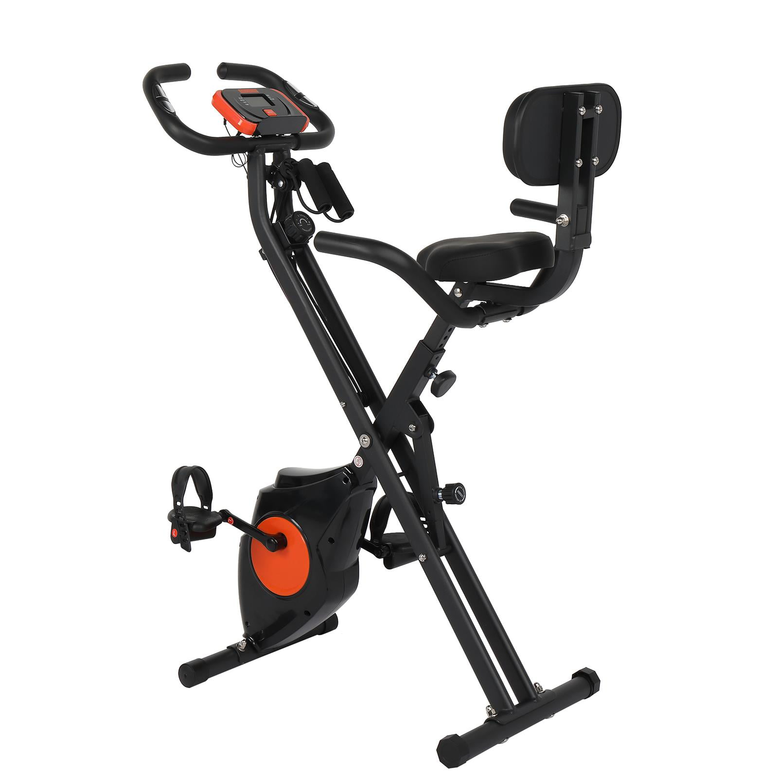 Details about  /Folding Exercise Bike with 8-Level Adjustable Resistance Home Fitness US Stock