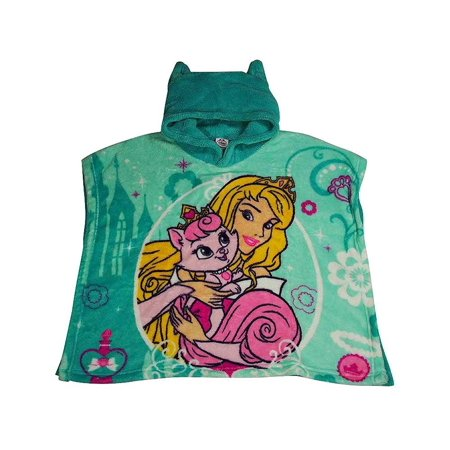 Disney Princess - Little Girls Hooded Bath Towel Green Palace Pets / - Princess Hooded Towel