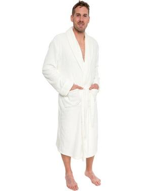 Product Image Ross Michaels Mens Plush Shawl Collar Luxury Kimono Bath Robe  (White 234733c70