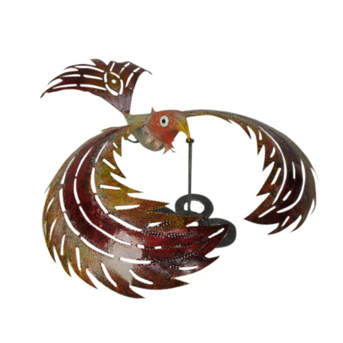 G.W. Schleidt, Inc. Bali Garden Colorful Metal Kinetic Balancing Bird Garden  Statue