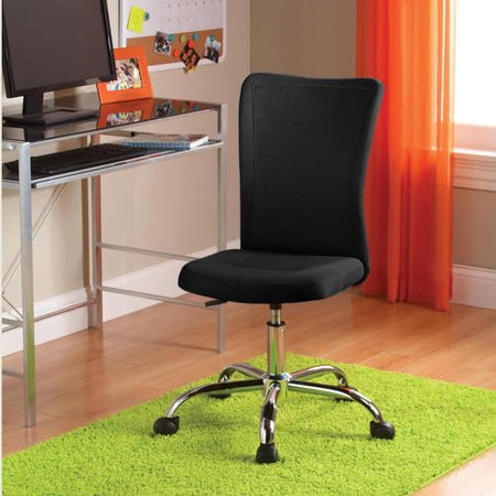 White Leatherette Office Chair (Mainstays Adjustable Mesh Desk Chair, Multiple Colors )