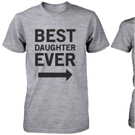 Matching Grey T-Shirts Set For Dad and Daughter - Best Dad / Beast