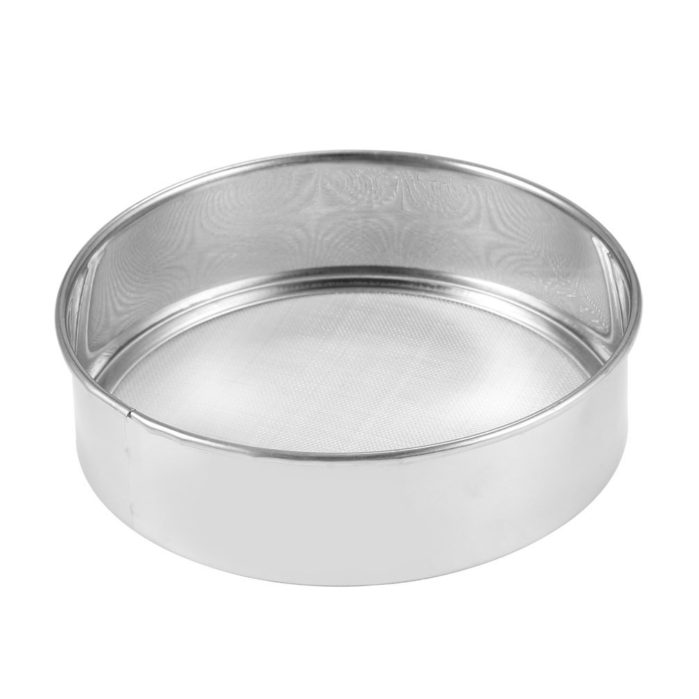 Stainless Steel Mesh Flour Sifting Sifter Sieve Strainer Cake Baking Kitchen