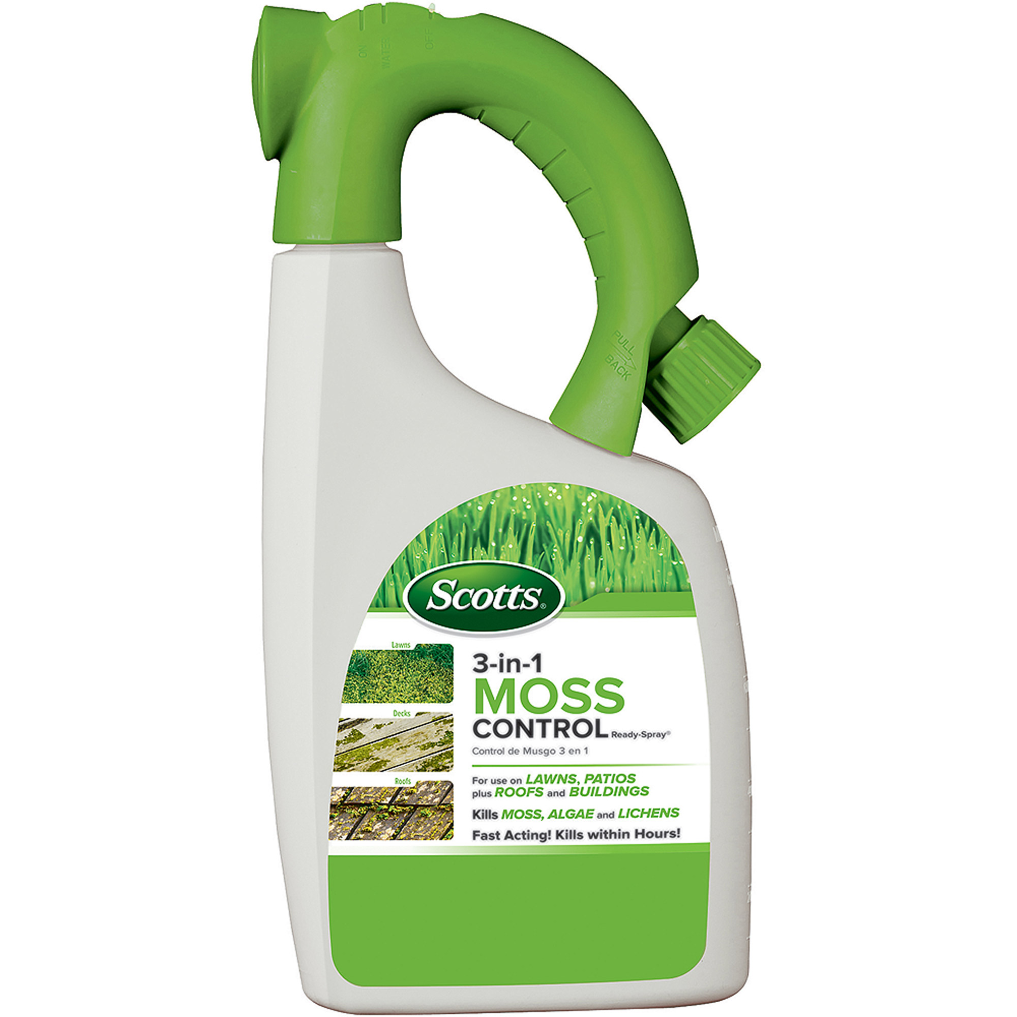 Scotts 3-in-1 Moss Control Ready-Spray 32 fl oz