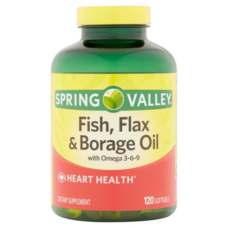 Spring Valley Fish  Flax   Borage Oil For Heart Health  120Ct