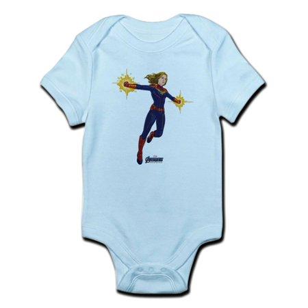 Marvel Bodysuit (CafePress - Captain Marvel - Baby Light)