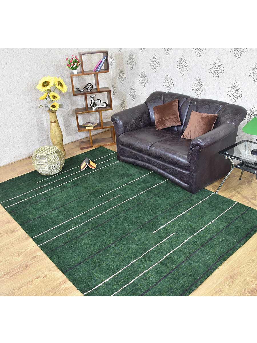 Rugsotic Carpets Hand Knotted Silk 6 X9 Area Rug Contemporary Dark Green Ls0615 Walmart Com Walmart Com