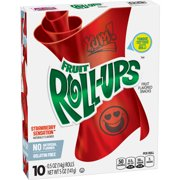 Fruit Snacks Fruit Roll-Ups Strawberry Sensation 10 Rolls 0.5 oz Each