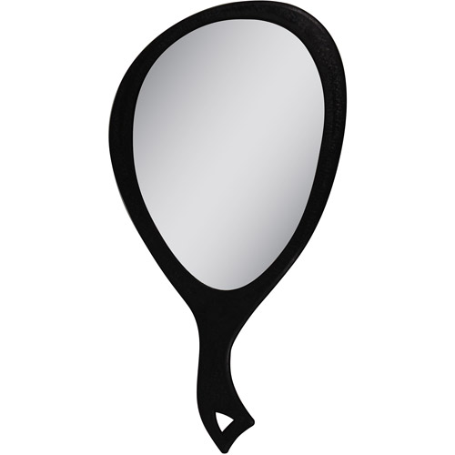Zadro Teardrop Hand-Held Mirror with 1x Magnification, Black