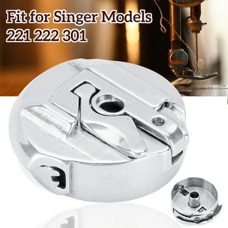 Household Sewing Machine Metal Bobbin Case (#45750) for Singer Models 221 222 301 ()