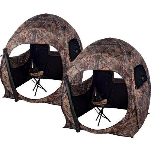 Ameristep Double Trouble Ground Blinds Realtree Xtra Pack of 2, 1RX4S048