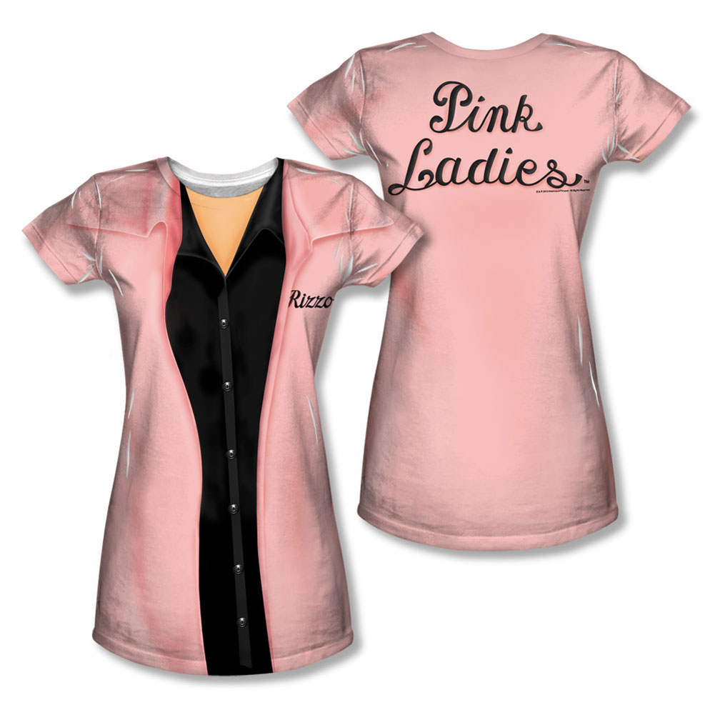 Grease  Rizzo Pink Ladies Girls Jr Sublimation White