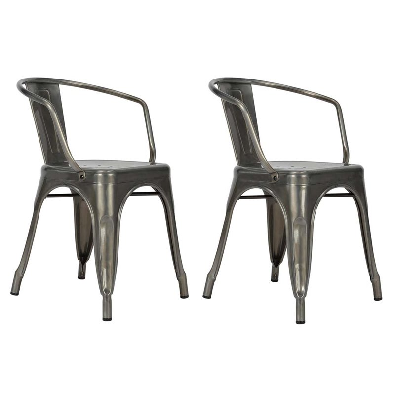 DHP Elise Metal Dining Chair, Set of 2, Multiple Colors