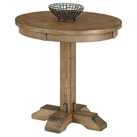 progressive furniture boulder creek round pedestal end table. Black Bedroom Furniture Sets. Home Design Ideas