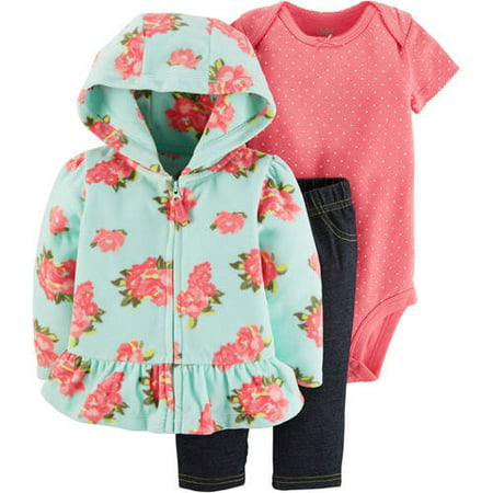 52cb1dbb0 Child of Mine by Carter s - Baby Girl Microfleece Cardigan