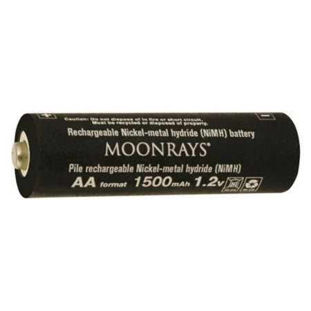 Moonrays 97143 Rechargeable NiMh AA Batteries for Solar Powered Units, 1500-mAh, (Best Solar Battery Pack)