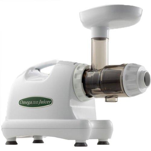 Omega J8004x Nutrition Center Commercial Masticating Juicer, White (Certified Refurbished)