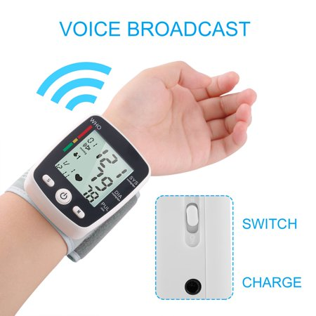 Outad Upper Arm Lcd Display Automatic Wrist Blood Pressure Monitor Household Use Withe - image 11 of 13