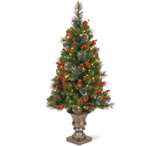 National Tree Pre-Lit 4' Crestwood Spruce entrance Tree with 50 Clear Lights