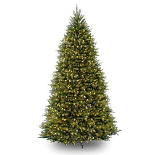 National Tree Co. 10' Dunhill Fir Artificial Christmas Tree with 1200 Clear Lights