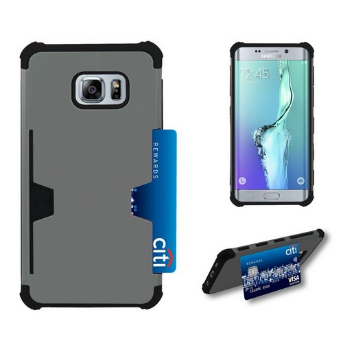 C&E Shell Case Rugged For Samsung Galaxy S6 Edge Plus Gray/Black