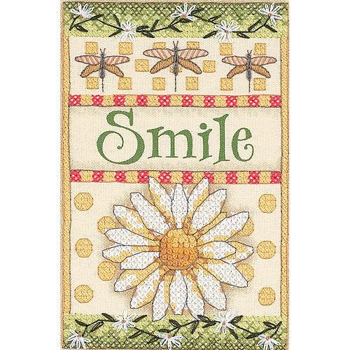 "Dimensions Smile Daisy Mini Stamped Cross Stitch Kit, 5"" x 7"""