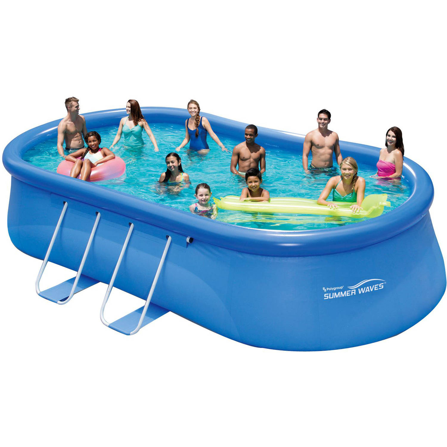 Summer waves 20 39 x 12 39 x 48 quick set oval frame above for Above ground pools quick set