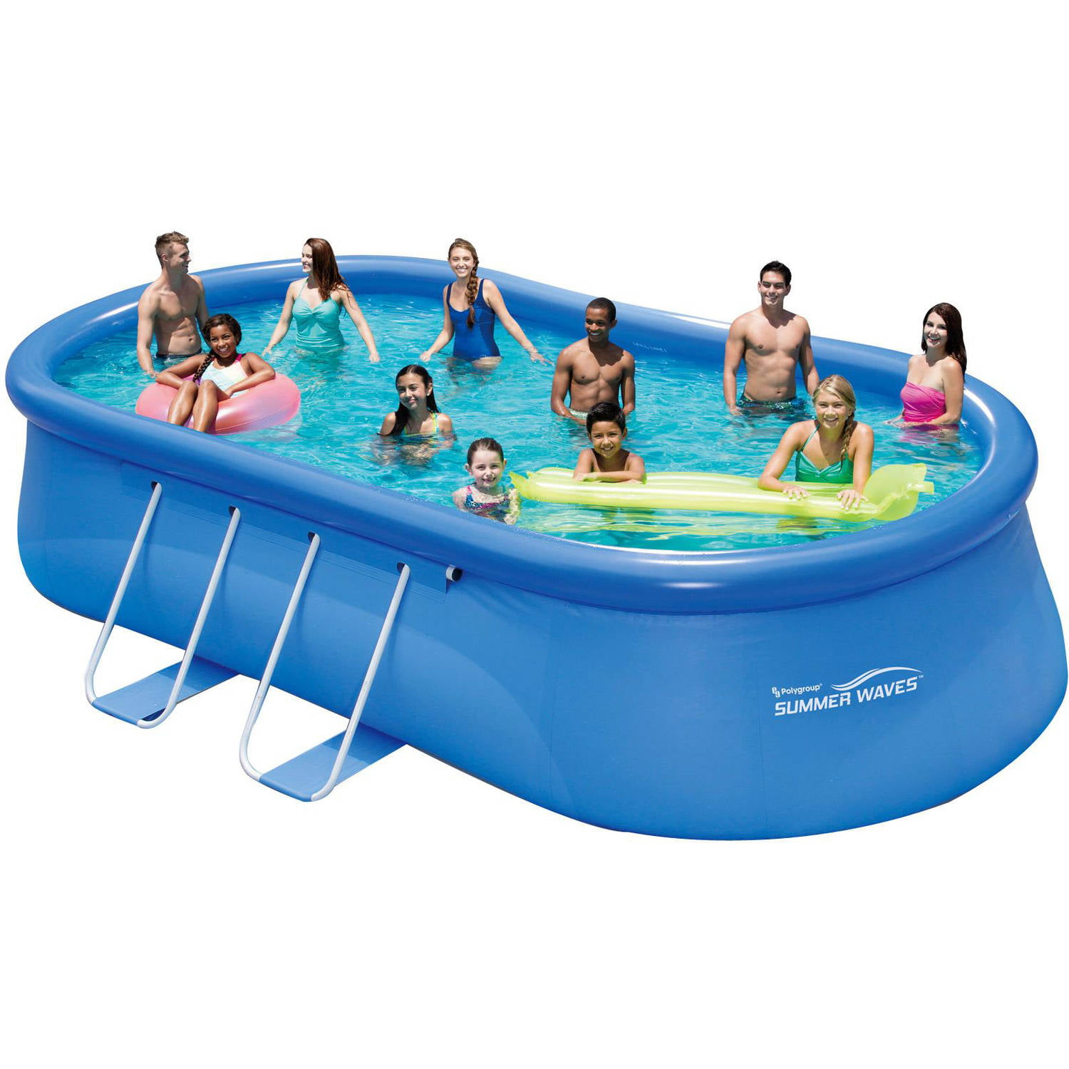 Summer waves 20 39 x 12 39 x 48 quick set oval frame above - Summer waves pool ...