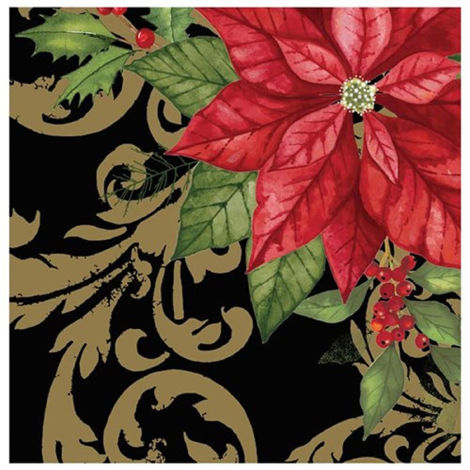 """Club Pack of 192 Holiday Elegance 3-Ply Disposable Lunch Napkins 6.5"""""""