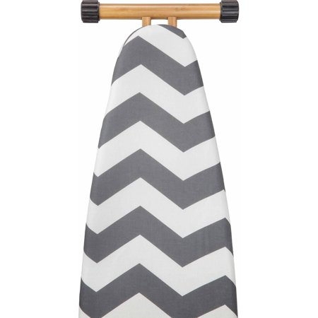 Candie Couture By MacBeth Collection - Scorch Resistant Ironing Board Cover & Pad in Chevron Graphite (15