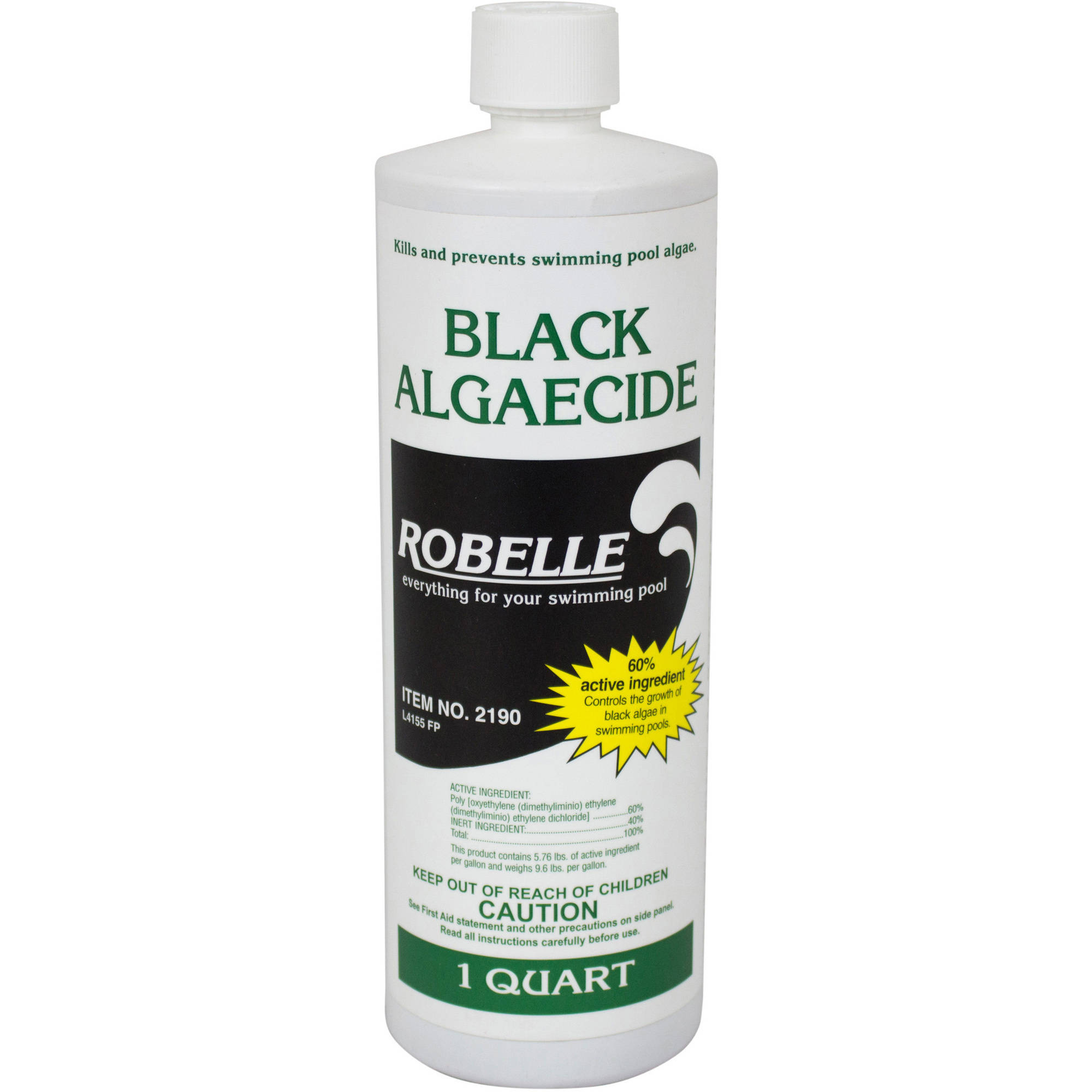Robelle Black Algaecide for Swimming Pools, Quart