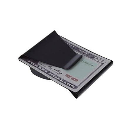 Slim Clip - Double Sided Money Clip! (Black Chrome) (Classic Money Clip)
