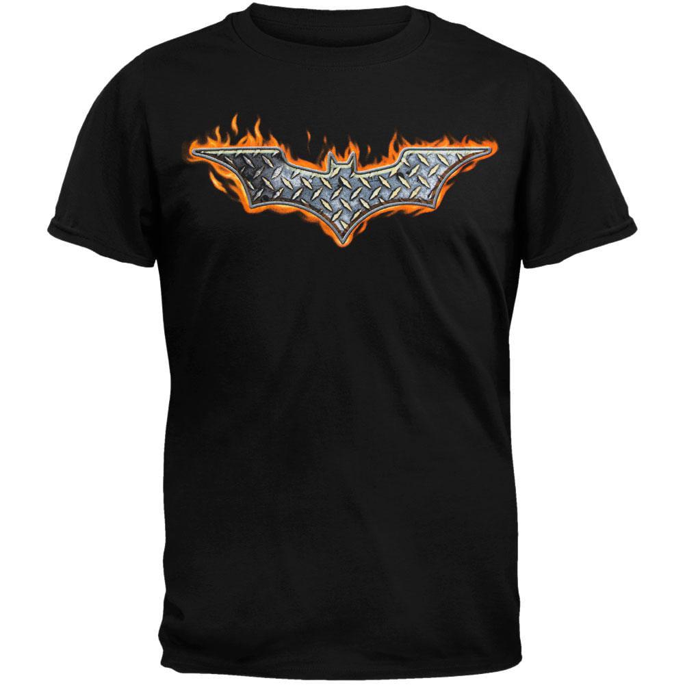 Batman Steel Fire Logo T-Shirt by