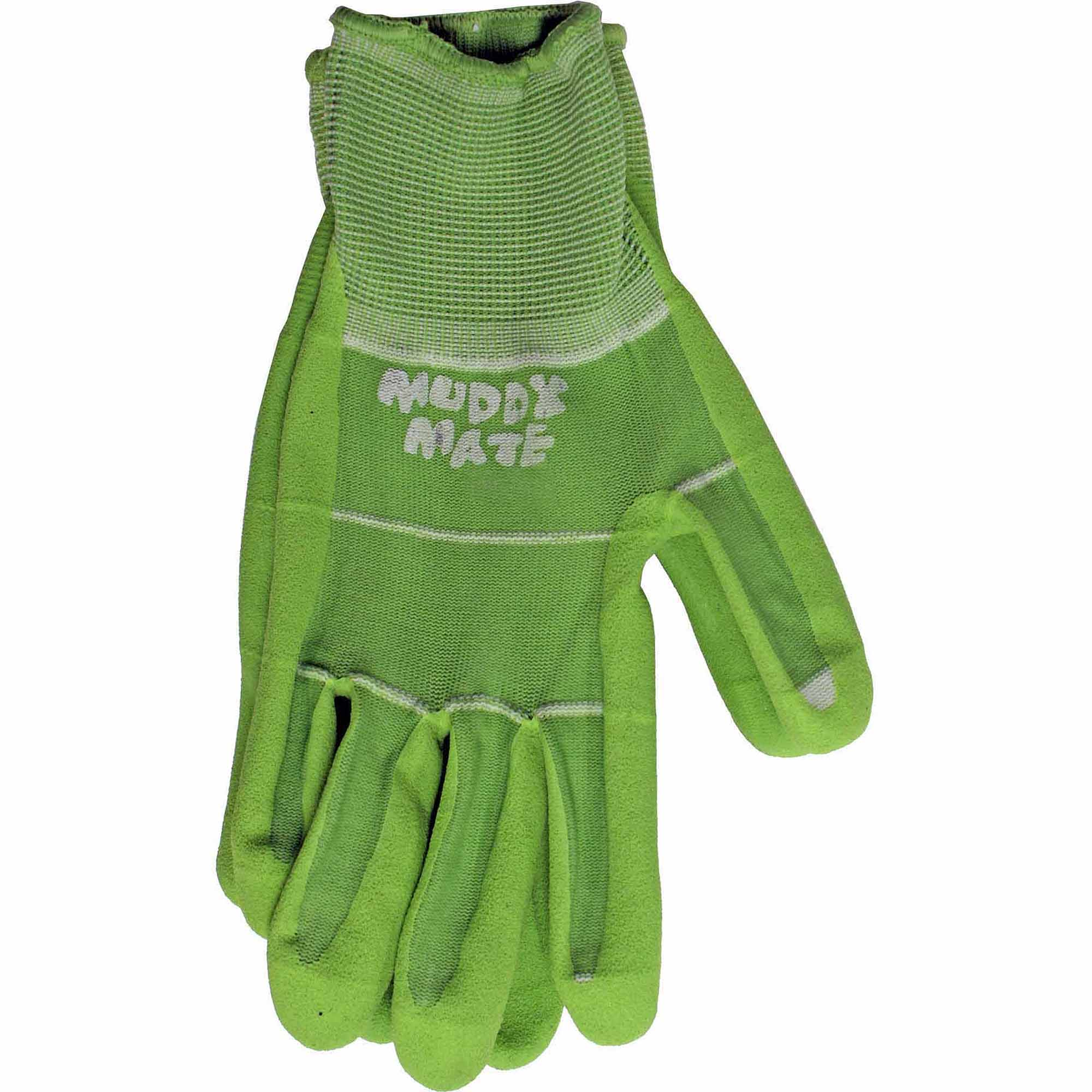 Boss Gloves Medium Green Nitrile Palm Garden Gloves
