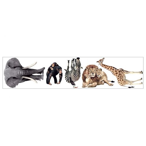 4 Walls Jungle Animals Freestyle Wall Decal