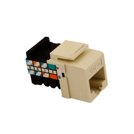 Leviton 5G108-RA5 Gigamax 5E Quickport Connector, Cat 5E, (Leviton Cat)