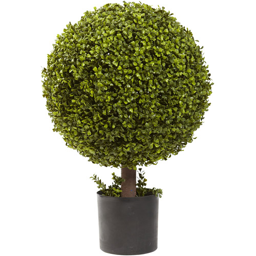 "Nearly Natural 27"" Boxwood Ball Topiary"