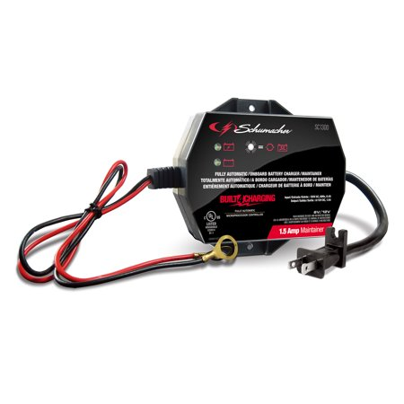 Schumacher SC1300 1.5A 6/12V Fully Automatic Battery Charger/Maintainer (15a Battery Charger)