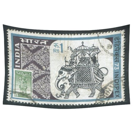 India Decor - PHFZK Mandala India Elephant Home Decor Wall Art, Postage Stamp Tapestry Wall Hanging 40x60 Inches