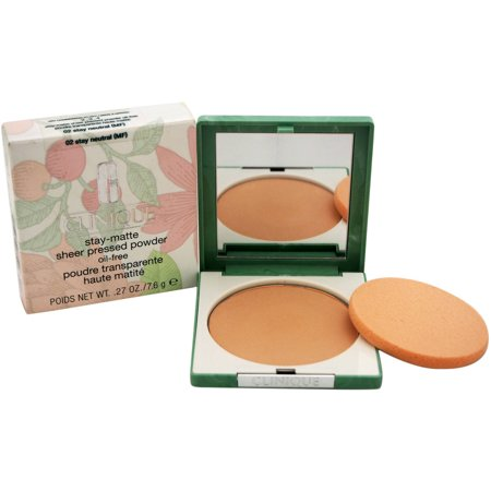 Stay-Matte Sheer Pressed Powder - # 02 Stay Neutral (MF) - Dry Combination To Oi by Clinique for Women, 0.27 -