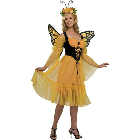 Monarch Butterfly Adult Halloween Costume - Monarch Butterfly Halloween Makeup